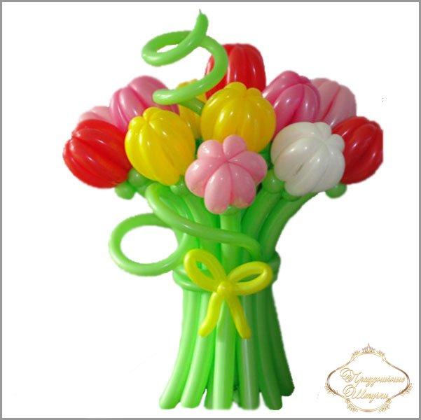 Цветы тюльпаны из шариков